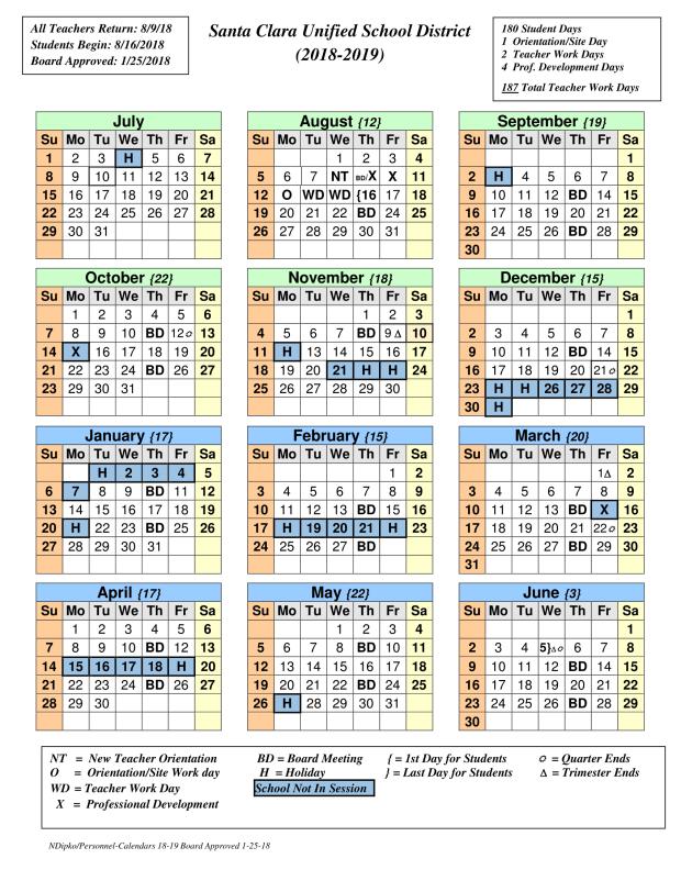 CALENDAR 18-19 BOARD APPROVED 1-25-18-1